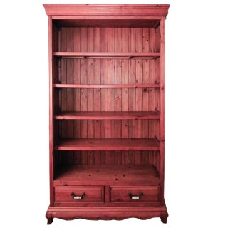 20th Century French Federal Pine Bookcase For Sale