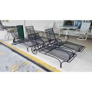 Mid Century Salterini Wrought Iron Chaise Lounges- Set of 4 Preview