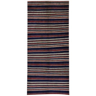 "20th Century Turkish Sivas Rug With Stripes - 4'9"" X 10'7"" For Sale"
