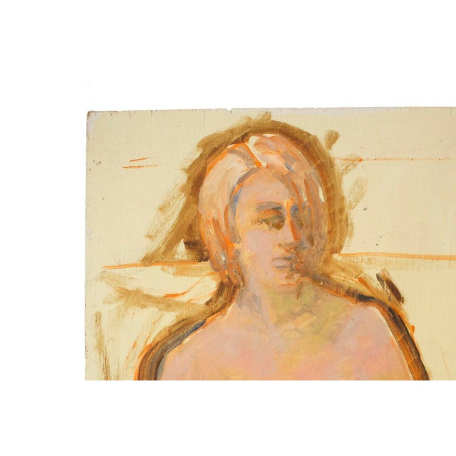 Nude Woman Portrait Paintings- Set of 2 - Image 5 of 5