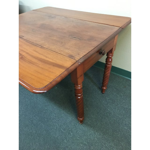Vintage Drop Leaf Table For Sale In San Francisco - Image 6 of 8