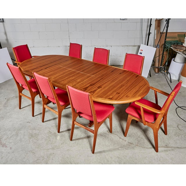 1970s 1970s Teak Dining Table & Chairs For Sale - Image 5 of 13