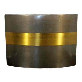 Contemporary Modern Gold Gilt Metal Vase Signed Michael Aram 1980s For Sale