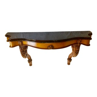 19th-Century Louis XV French Oak Console Table For Sale