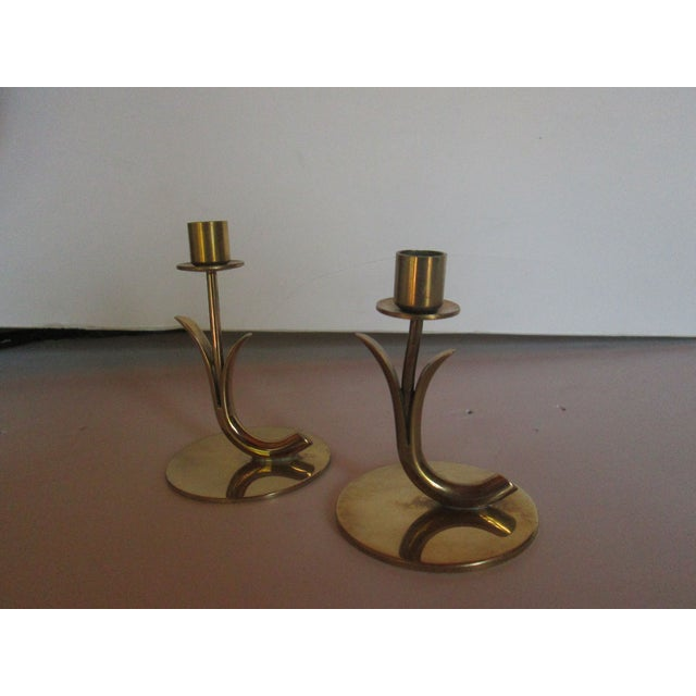Mid-Century Modern Ystad Metall Candleholders - A Pair For Sale - Image 3 of 7