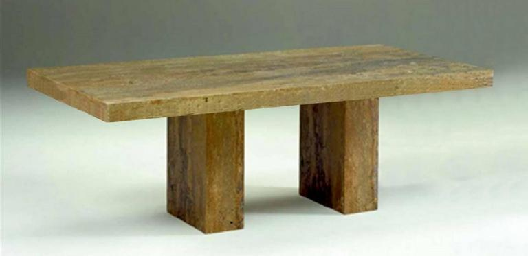 An Impressive Double Pedestal Dining Table By Stone International For Robb  U0026 Stucky. Made