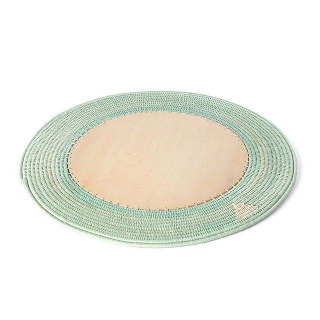 Boho Chic Round Charger Mint For Sale - Image 3 of 3