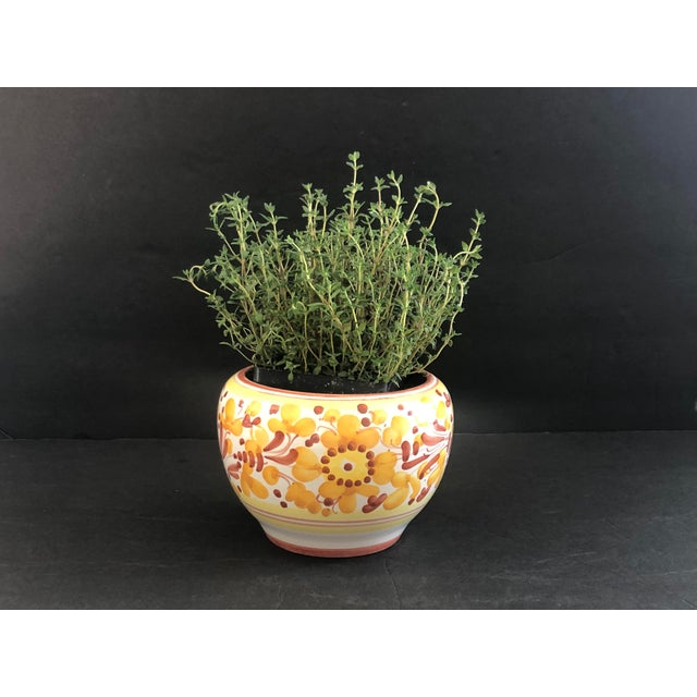 Vintage Italian Ceramic Pottery Indoor Planter For Sale - Image 10 of 13