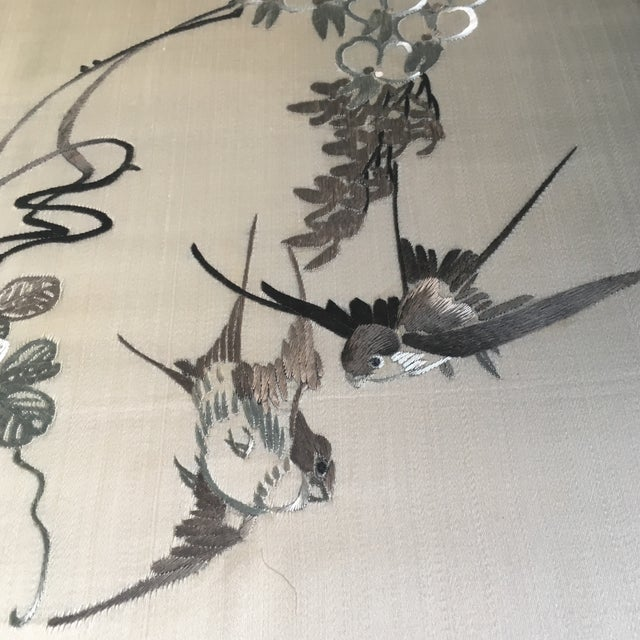 Vintage Framed Chinese Silk Embroidery - Image 3 of 11