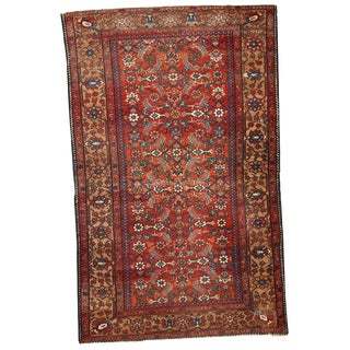 Hand Made Antique Persian Hamadan Rug - 4′1″ × 6′6″ For Sale