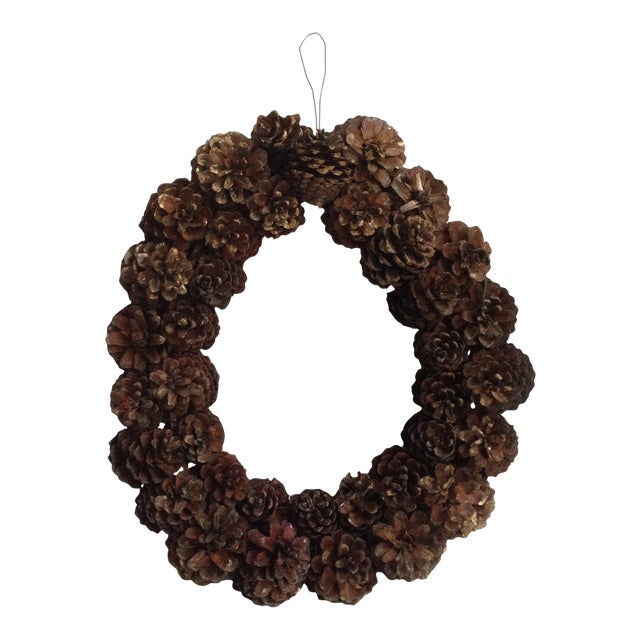 Vintage Natural Pinecone Wreath - Image 1 of 11