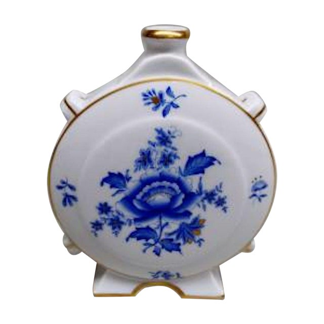Antique Herend Porcelain Floral Flask Vase Chairish