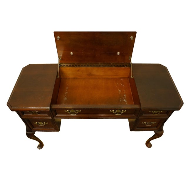 Wood Bassett Furniture Eden House Collection Cherry Vanity For Sale - Image 7 of 13