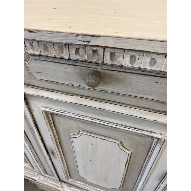 Wood Italian Painted Buffet Cabinet For Sale - Image 7 of 10