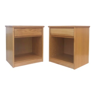 Pair Vintage Modern Nightstands For Sale