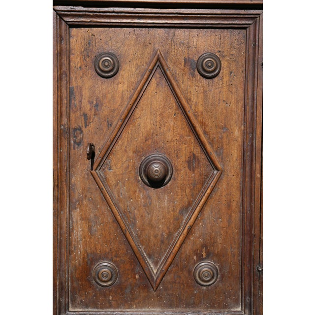 Brown Italian Baroque Walnut Cabinet For Sale - Image 8 of 13