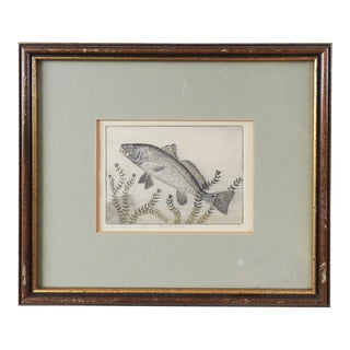 Benson B. Moore Redfish Etching For Sale