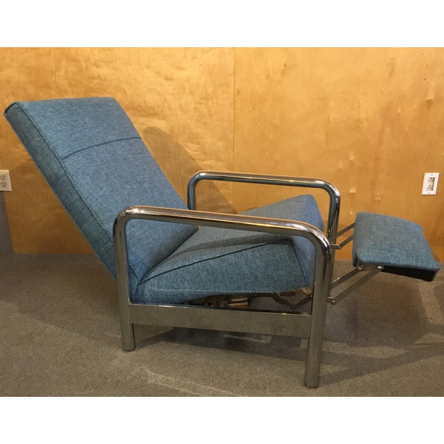 Thayer Coggin Milo Baughman for Thayer Coggin Chrome Reclining Lounge Chair For Sale - Image 4 of 8