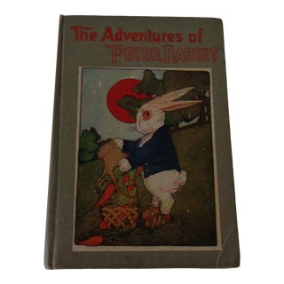 1910s Peter Rabbit Goes to School Antique Childrens Book For Sale