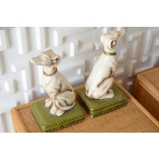 1930s Vintage Borzoi Bookends - a Pair Preview