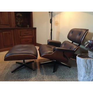 Eames Lounge Brown Leather Chair and Ottoman Preview
