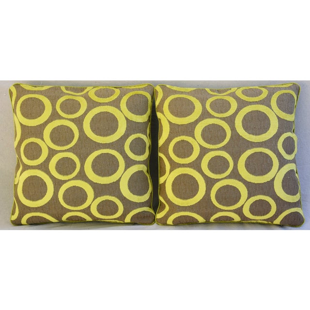 Hollywood Glam Lime Opuzen Cut Velvet Pillows - a Pair - Image 3 of 11