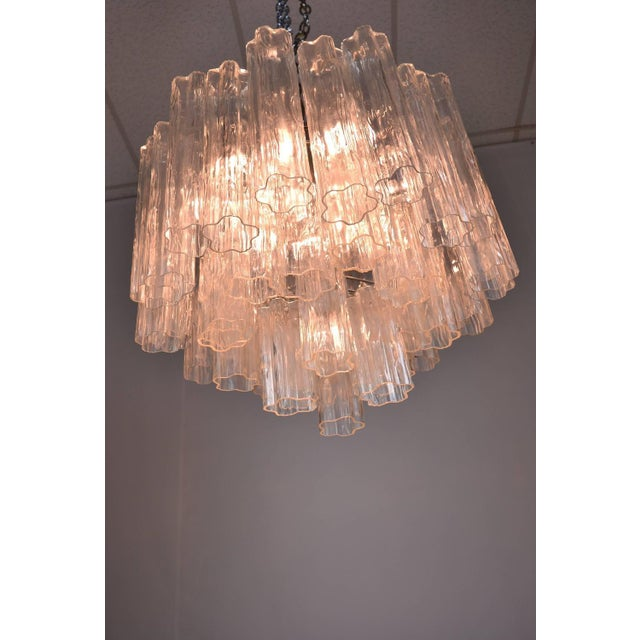 Silver Murano Glass Tronchi Chandelier For Sale - Image 8 of 9