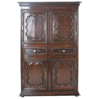 French 18th Century Dark Oak Homme Debout / Cupboard For Sale