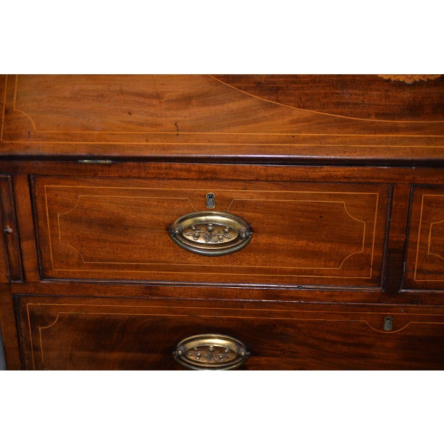 Late 19th Century 19th C. Mahogany Drop Front Bureau W/ Beautiful Inlay For Sale - Image 5 of 9