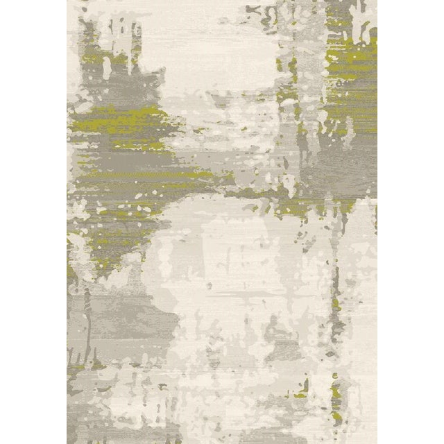 Green Abstract Rug - 5′3″ × 7′8″ - Image 1 of 4