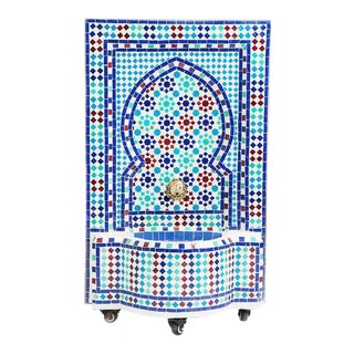 Mediterranean Mosaic Fountain For Sale