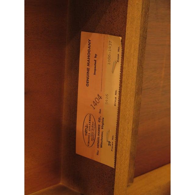 Brown 1986 Queen Anne Henkel Harris Mahogany Tea Table For Sale - Image 8 of 10