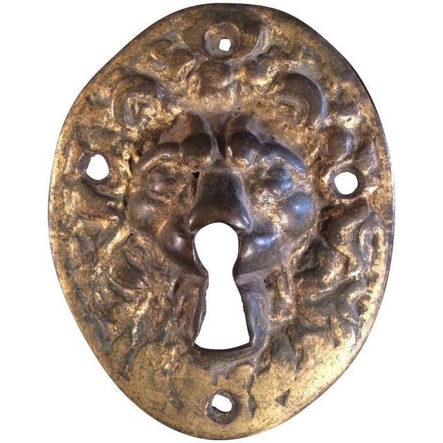 18th Century Gilt Bronze Lion Escutcheon For Sale In New York - Image 6 of 6
