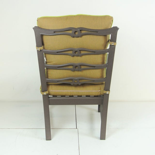 Aluminum Arlington Club Chair W/ Custom Fit Sunbrella Cushion For Sale - Image 7 of 8