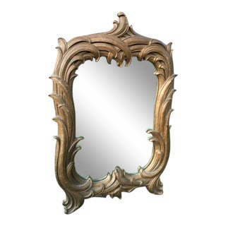 Vintage Serge Roche Style Wall Mirror For Sale