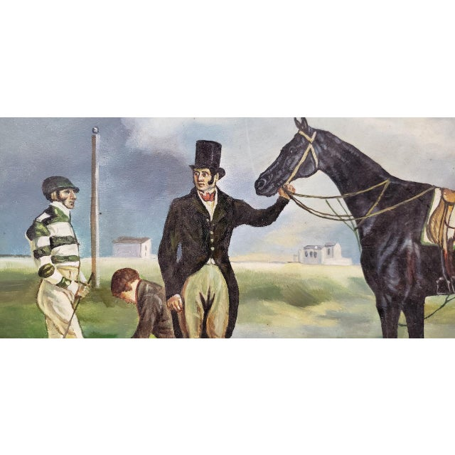 """Early 20th Century """"Horse and Rider"""" Original Oil Painting For Sale In San Francisco - Image 6 of 8"""