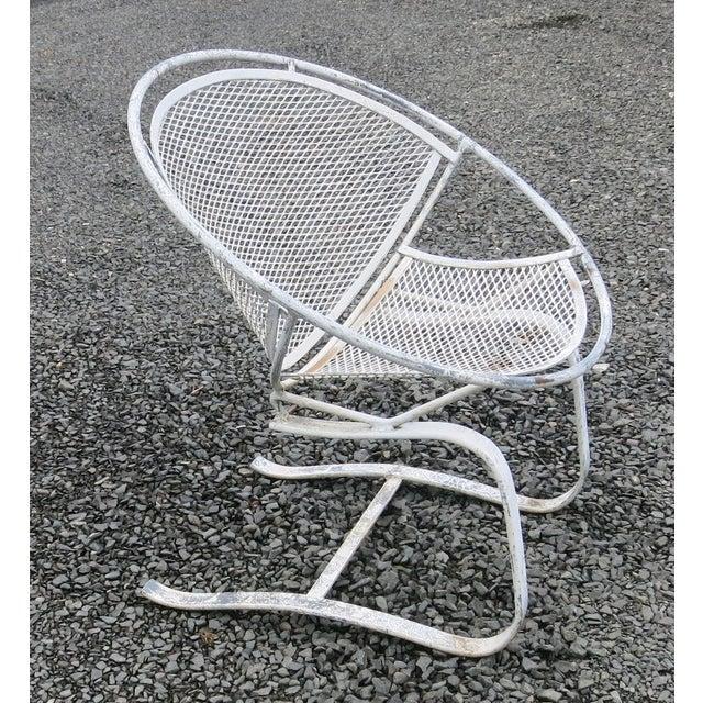 Salterini 1960s Vintage Salterini Radar Spring Chair Hoop Chair For Sale - Image 4 of 7