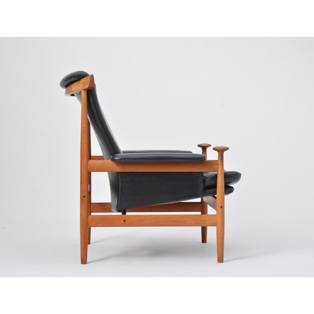 Black Reupholstered Bwana Model 152 Lounge Chair by Finn Juhl for France & Son For Sale - Image 9 of 12