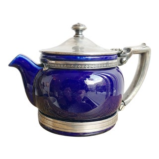 1924 China and Silver Teapot From the Roosevelt Hotel Nyc For Sale