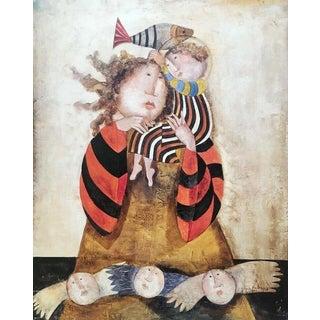 Madone du Lac, Original Lithograph, Graciela Boulanger For Sale