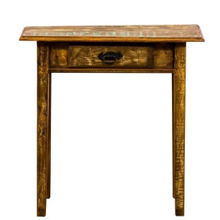 Rustic Console Table - Reclaimed Peroba Rosa Wood