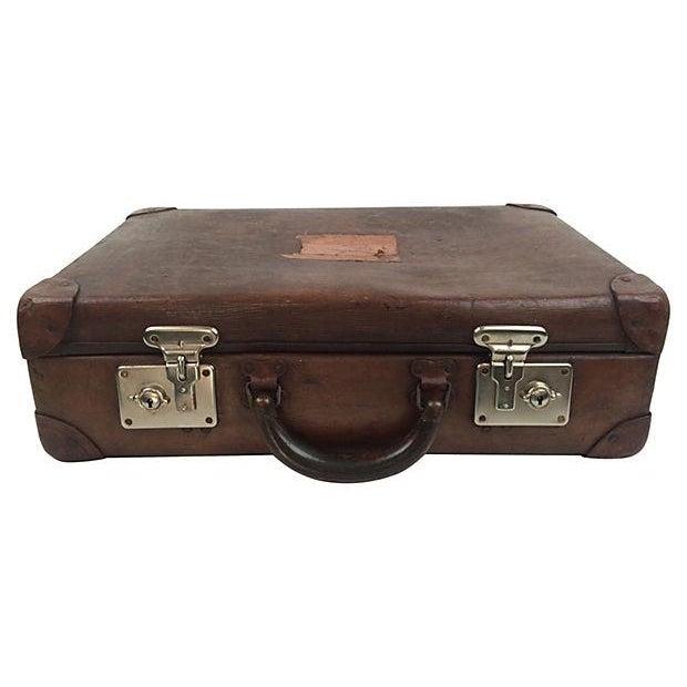Vintage Scottish Leather Suitcase - Image 3 of 3