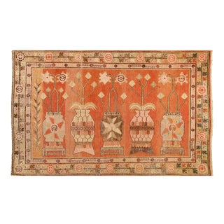 "Pasargad Antique Khotan Hand Knotted Wool Rug - 5'7"" X 9' For Sale"