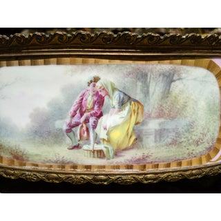 1800s Sevres-Style Rose Pompadour Porcelain Gilded Bronze Trim Oval Cachepot Preview
