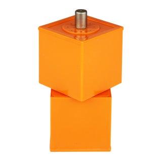 Danish Modern Gunnar Cyren for Dansk Orange Plastic Salt & Pepper Combo For Sale