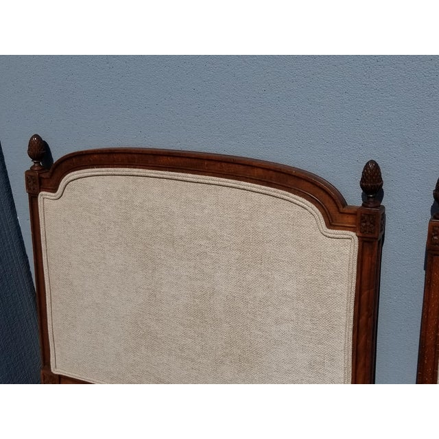 Wood Pair of Vintage French Country Tan Twin Headboards Low Profile For Sale - Image 7 of 13