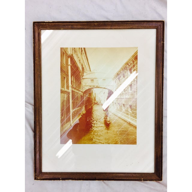 Brown Vintage Sepia Photograph of Venice For Sale - Image 8 of 11
