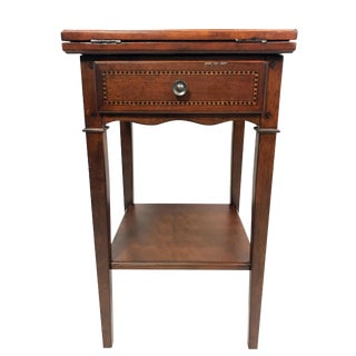 Traditional Small Game Table With Folding Top For Sale
