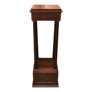 Antique Bronze Mounted Empire Style Mahogany Pedestal Table For Sale
