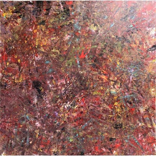 "Acrylic Painting by Artist Troy Smith - 60"" X 60"" Contemporary Art - Abstraction For Sale"